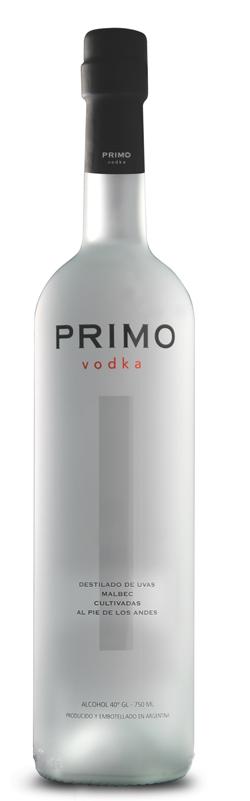 Vodka premium argentino de uvas Malbec