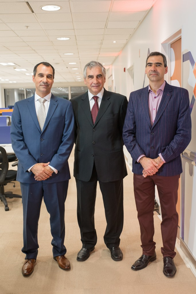 Alex Robbio, Presidente y CoFounder Belatrix, Luis Robbio CEO de Belatrix y Federico Robbio, CFO Belatrix