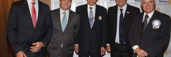 Rotary Club Buenos Aires, almuerzo 5/7: Cambio de autoridades y Orador Dr. Ernesto Sanz